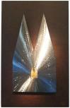 Silhouette Kreuzschliff, kombiniert mit Hintergrundplatte Rostlook 34x21cm. SET-Preis