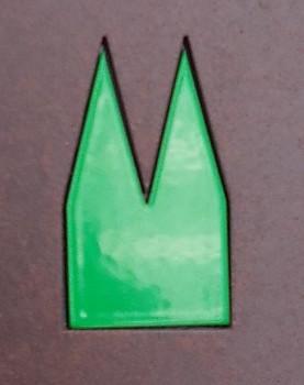 Pulverbeschichtet Grasgrün