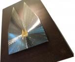 Silhouette Kreuzschliff, kombiniert mit Hintergrundplatte Rostlook 34x21cm. SET-Preis inkl. Motiv-Einsatz.